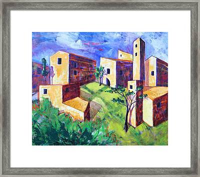 Villa Framed Print by Rollin Kocsis