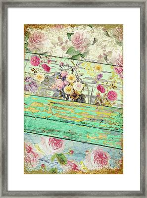 Villa Rosa Framed Print by Mindy Sommers