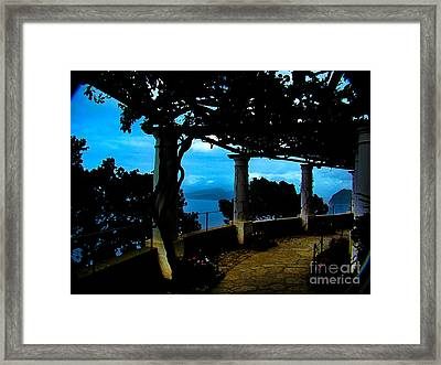 Villa San Michele At Anacapri, Italy - Painting Framed Print by Al Bourassa