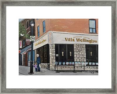 Villa Wellington In Verdun Framed Print by Reb Frost