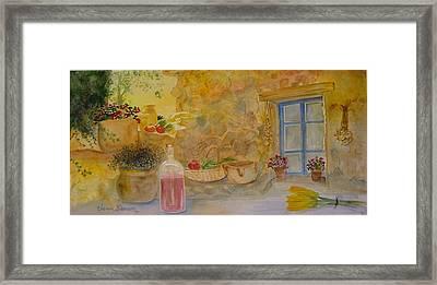 Villa With Still Life Framed Print by Vivian Larson