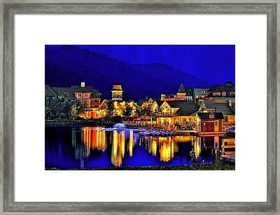 Village At Blue Hour Framed Print