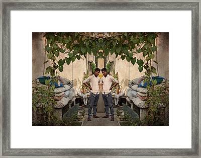 Village Boy  Framed Print by Sumit Mehndiratta