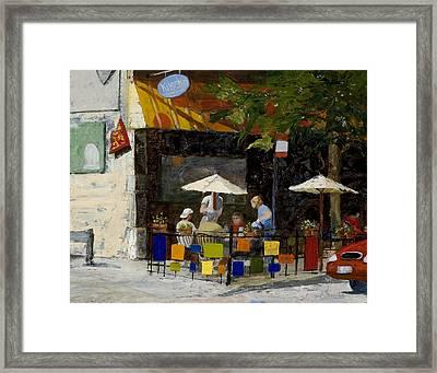 Village Brunch Framed Print by Nancy Albrecht