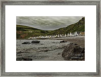 Village By The Sea Framed Print by Alex Millar