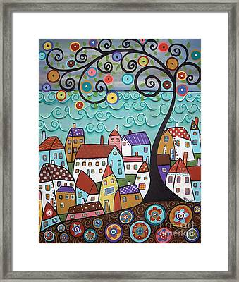 Village By The Sea Framed Print by Karla Gerard