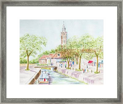 Village Canal Framed Print by Roy Pedersen