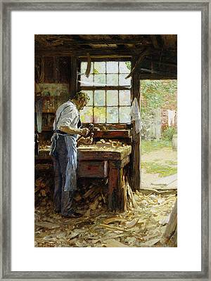 Village Carpenter Framed Print