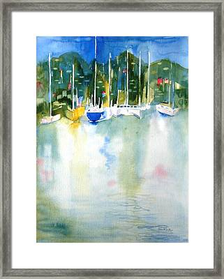 Village Cay Reflections Framed Print