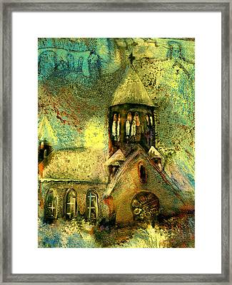 Village Church Framed Print by Anne Weirich