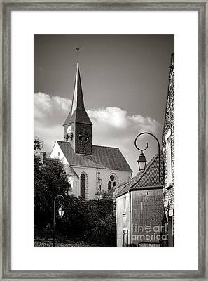 Village Church In France Framed Print