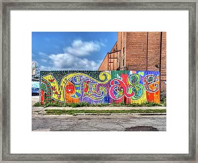 Village Fence Framed Print by David Kyte