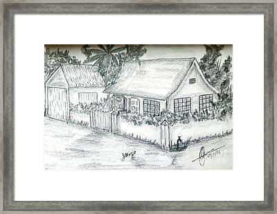Village Home  Framed Print