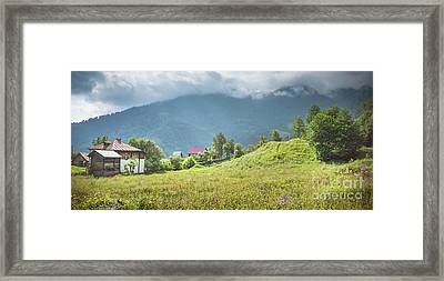 Village In A Mountains Framed Print by Svetlana Sewell