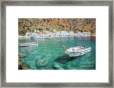 Village In Crete, Greece Framed Print