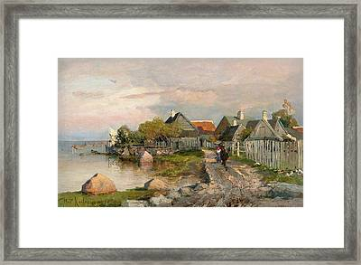 Village In Haapsalu Framed Print by MotionAge Designs
