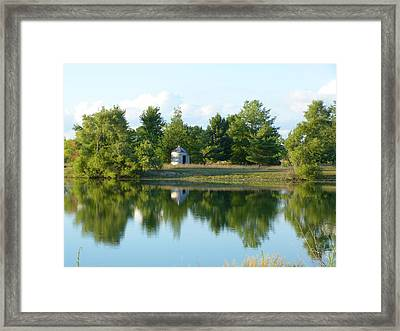 Village In Ohio Framed Print by Donald C Morgan