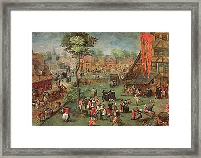 Village Kermesse Framed Print by Hans Bols