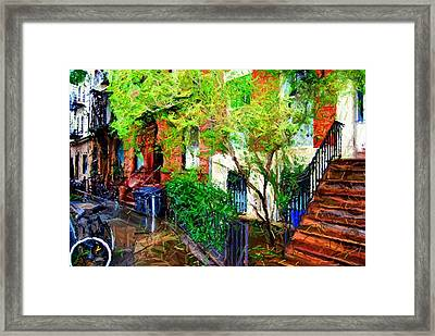 Village Life Sketch Framed Print by Randy Aveille