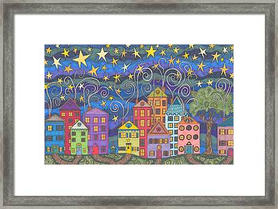 Village Lights Framed Print