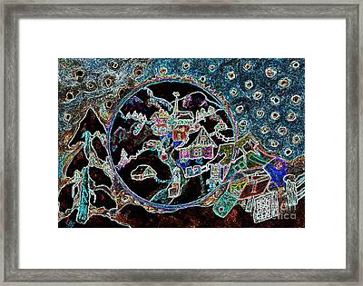 Village Lumineux / Luminescent Village Framed Print