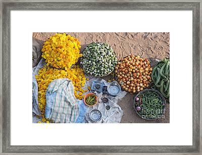 Village Market India Framed Print by Tim Gainey