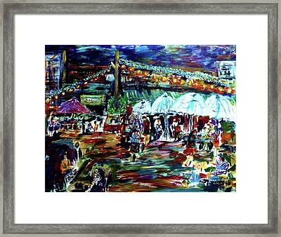 Village Nights Framed Print