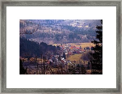 Village Of Lokve In Gorski Kotar  Framed Print