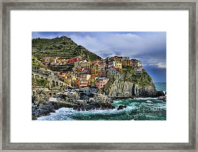 Village Of Manarola - Cinque Terre - Italy Framed Print by JH Photo Service