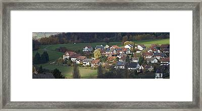 Village Of Residential Homes In Germany Framed Print