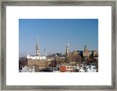 Village Of Spires Framed Print by Gary Wonning