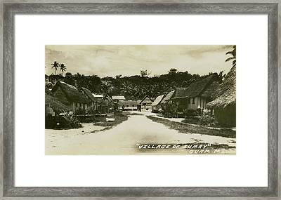 Framed Print featuring the photograph Village Of Sumay Guam by eGuam Photo