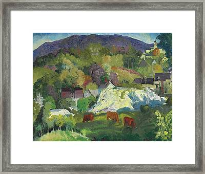 Village On The Hill Framed Print