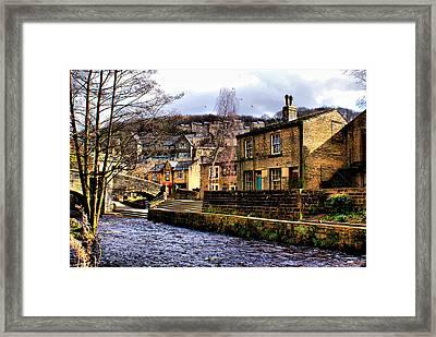 Village On The River Framed Print by Jacqui Kilcoyne