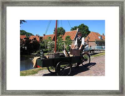 Village Peddler Framed Print