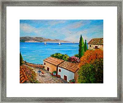 Village Perigiali / Greece Framed Print