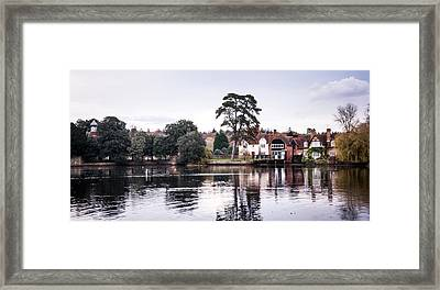 Village Reflections Framed Print by Svetlana Sewell