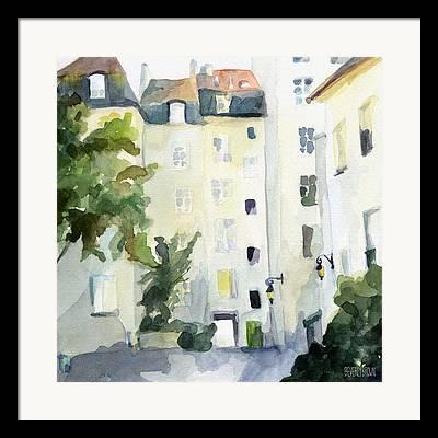 Streets Of France Framed Prints