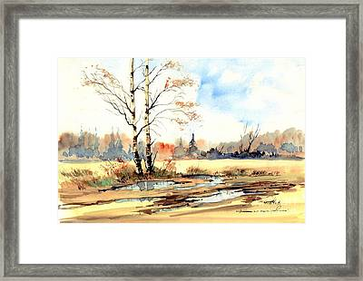 Village Scene I Framed Print