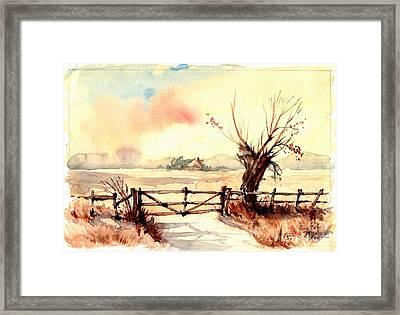 Village Scene IIi Framed Print