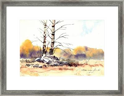 Village Scene V Framed Print