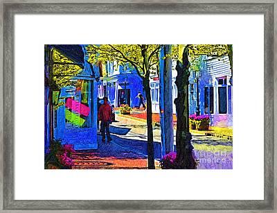 Village Shopping Framed Print