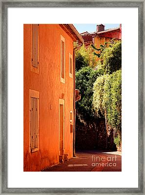 Village Street In Provence Framed Print by Olivier Le Queinec