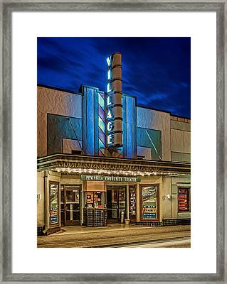 Village Theater Framed Print