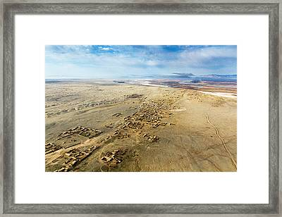 Village Toward Amu Darya River Framed Print