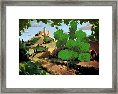 Village. Tower On The Hill Framed Print by Dr Loifer Vladimir