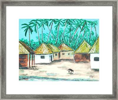Village Framed Print by Van Winslow