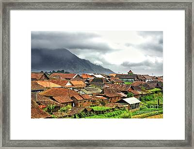Framed Print featuring the photograph Village View by Charuhas Images