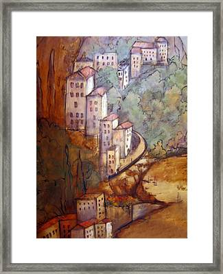 Village View Framed Print by Katherine Boritzke
