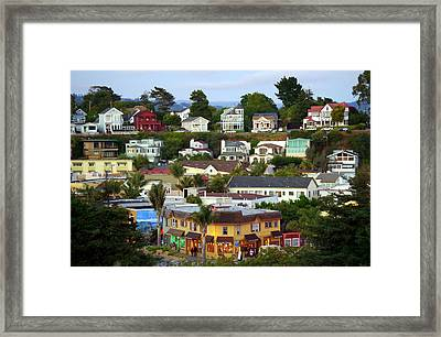Village View  Sig Framed Print